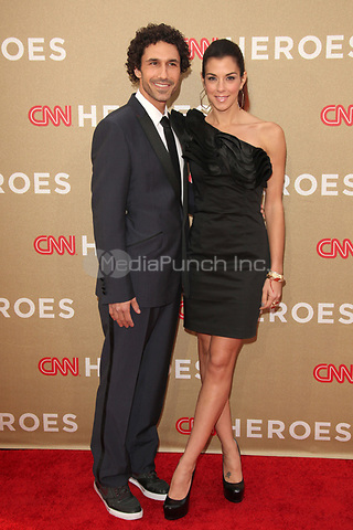 Ethan Zohn and Jenna Morasca at the CNN Heroes: An All-Star Tribute at The Shrine Auditorium on December 11, 2011 in Los Angeles, California.