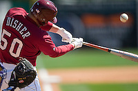 South Carolina designated hitter Phil Disher (50) makes contact versus LSU at Sarge Frye Stadium in Columbia, SC, Thursday, March 18, 2007.