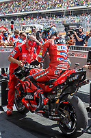 3rd October 2021; Austin, Texas, USA; Francesco Bagnaia (63) - (ITA) riding a Ducati for the Ducati Lenovo Team in parc ferme after 3rd place finish at the MotoGP Red Bull Grand Prix of the Americas