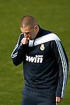 Madrid (02/03/10).-Entrenamiento del Real Madrid..Karim Benzema...© Alex Cid-Fuentes/ ALFAQUI..Madrid (02/03/10).-Training session of Real Madrid c.f..Karim Benzema...© Alex Cid-Fuentes/ ALFAQUI.