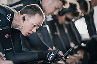 Chris Froome (GBR/SKY) warming up<br /> <br /> Men's Team Time Trial<br /> <br /> UCI 2017 Road World Championships - Bergen/Norway