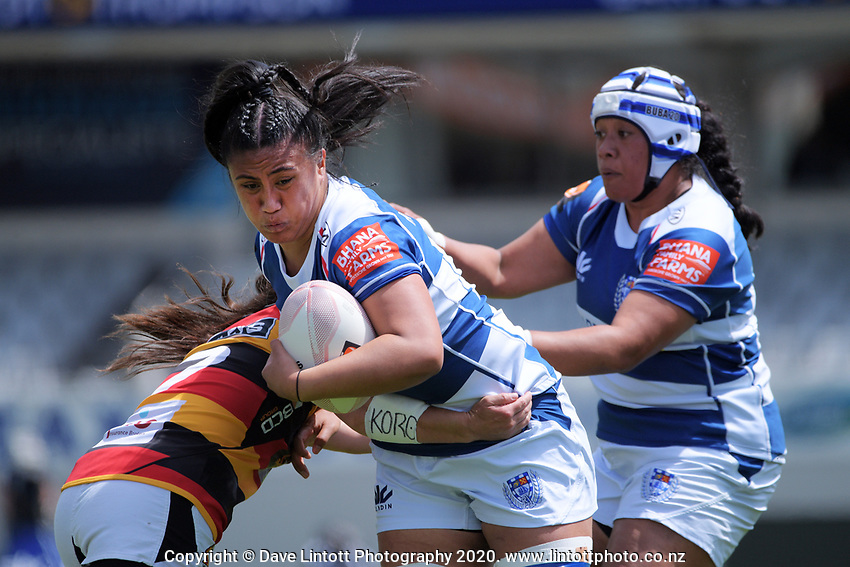 Liana Mikaele-Tu'u in action during the Farah Palmer Cup women's rugby union match between Auckland Storm and Waikato at Eden Park in Auckland, New Zealand on Sunday, 18 October 2020. Photo: Dave Lintott / lintottphoto.co.nz