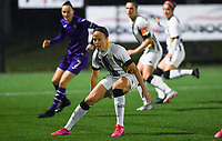 midfielder Ines Dhaou of Sporting Charleroi pictured during a female soccer game between Sporting Charleroi and RSC Anderlecht on the third matchday of the 2020 - 2021 season of Belgian Scooore Womens Super League , friday 2 nd of October 2020  in Marcinelle , Belgium . PHOTO SPORTPIX.BE | SPP | DAVID CATRY