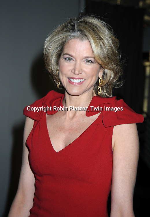 Paula Zahn in red Prada dress attending The  National Center for Learning Disabilities 33rd Annual Benefit Dinner on April 28, 2010 at Tribeca Rooftop in New York City.