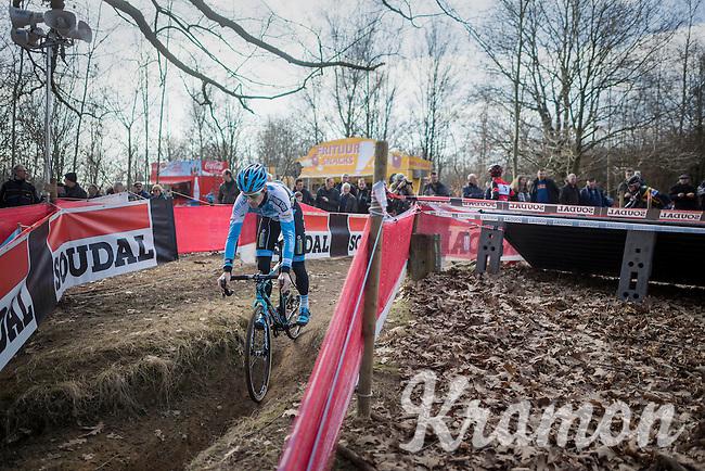 Kevin Pauwels (BEL/Marlux - Napoleon Games) during recon<br /> <br /> men's race<br /> CX Soudal Classics Leuven/Belgium 2017
