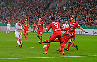 17.04.2018, Football DFB Pokal 2017/2018, semi final , Bayer Leverkusen - FC Bayern Muenchen, in BayArena Leverkusen. goal  4:1 of  Thiago (li, FC Bayern Muenchen)  -  Leon Bailey (3.v.re, Leverkusen) and Jonathan Tah (re, Leverkusen) *** Local Caption *** © pixathlon<br /> <br /> Contact: +49-40-22 63 02 60 , info@pixathlon.de
