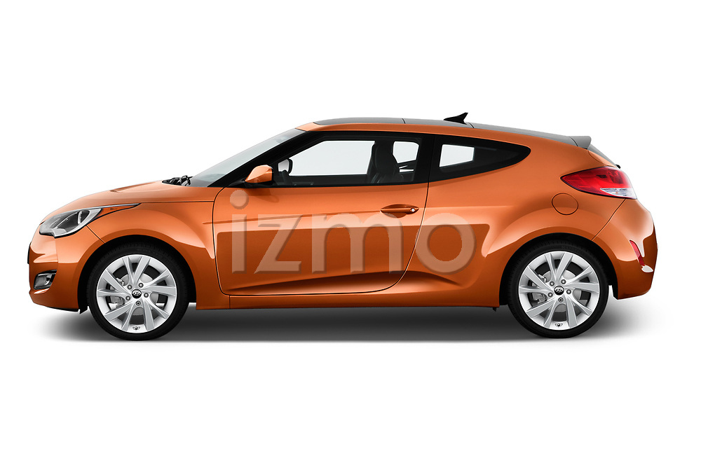 Car Driver side profile view of a 2017 Hyundai Veloster Manual 5 Door Hatchback Side View