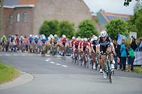 Kevin De Weert (BEL/OmegaPharma-Quickstep) leading the way<br /> <br /> Belgian Championships 2014 - Wielsbeke<br /> Elite Men