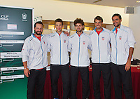 September 11, 2014, Netherlands, Amsterdam, Ziggo Dome, Davis Cup Netherlands-Croatia, Draw, team Croatia<br /> Photo: Tennisimages/Henk Koster