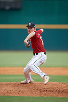 Cole Mathis (12) of Harris County High School in Cataula, GA during the Perfect Game National Showcase at Hoover Metropolitan Stadium on June 17, 2020 in Hoover, Alabama. (Mike Janes/Four Seam Images)