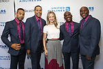 Paris Nix, Nicholas Ryan, Melissa Benoist, Sidney DuPont and Douglas Lyons attends the United Airlines Presents: #StarsInTheAlley Produced By The Broadway League on June 1, 2018 in New York City.
