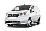 Stock pictures of low aggressive front three quarter view of2017 Chevrolet City Express LT 5 Door Cargo Van Low Aggressive