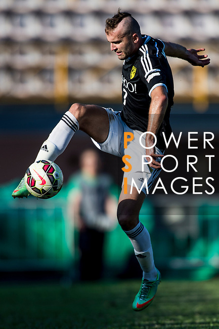 Petrisor Voinea of Sun Pegasus FC in action during the HKFA Premier League between Wofoo Tai Po vs Sun Pegasus at the Tai Po Sports Ground on 22 November 2014 in Hong Kong, China. Photo by Aitor Alcalde / Power Sport Images