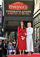 Kristen Bell and Idina Menzel Star Ceremony