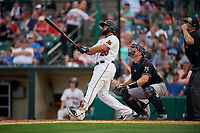 Rochester Red Wings Wilin Rosario (20) at bat during an International League game against the Scranton/Wilkes-Barre RailRiders on June 24, 2019 at Frontier Field in Rochester, New York.  Rochester defeated Scranton 8-6.  (Mike Janes/Four Seam Images)