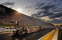 Jul, 22, 2011; Morrison, CO, USA: NHRA top fuel dragster driver David Grubnic during qualifying for the Mile High Nationals at Bandimere Speedway. Mandatory Credit: Mark J. Rebilas-