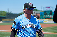 Erie SeaWolves Cam Gibson (14) before an Eastern League game against the Akron RubberDucks on June 2, 2019 at UPMC Park in Erie, Pennsylvania.  Erie defeated Akron 8-5 in eleven innings in the second game of a doubleheader.  (Mike Janes/Four Seam Images)