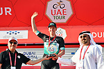 Pascal Ackermann (GER) Bora-Hansgrohe wins Stage 1 of the UAE Tour 2020 running 148km from The Pointe to Dubai Silicon Oasis, Dubai. 23rd February 2020.<br /> Picture: LaPresse/Massimo Paolone | Cyclefile<br /> <br /> All photos usage must carry mandatory copyright credit (© Cyclefile | LaPresse/Massimo Paolone)