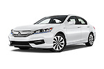 Stock pictures of low aggressive front three quarter view of 2017 Honda Accord Hybrid 4 Door Sedan Low Aggressive