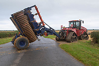 5-8-2021 Case Quadtrac crossing the road<br /> ©Tim Scrivener Photographer 07850 303986<br />      ....Covering Agriculture In The UK....