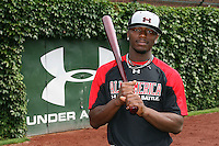 August 7, 2009:  Outfielder/Pitcher Deshun Dixon (10) of the Baseball Factory team during the Under Armour All-America event at Wrigley Field in Chicago, IL.  Photo By Mike Janes/Four Seam Images