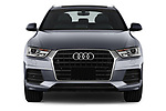 Car photography straight front view of a 2018 Audi Q3 Premium 5 Door SUV