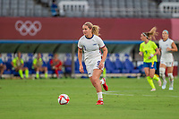 TOKYO, JAPAN - JULY 21: Lindsey Horan #9 of the United States attacking during a game between Sweden and USWNT at Tokyo Stadium on July 21, 2021 in Tokyo, Japan.