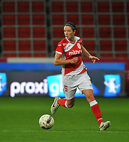 20131009 - LIEGE , BELGIUM : Standard's Faustine Cartegnie pictured during the female soccer match between STANDARD Femina de Liege and GLASGOW City LFC , in the 1/16 final ( round of 32 ) first leg in the UEFA Women's Champions League 2013 in stade Maurice Dufrasne - Sclessin in Liege. Wednesday 9 October 2013. PHOTO DAVID CATRY