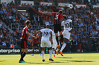 Tammy Abraham of Swansea City and Steve Cook of Bournemouth contend for the ball during the Premier League match between AFC Bournemouth and Swansea City at Vitality Stadium in Bournemouth, England, UK. Saturday 05 May 2018