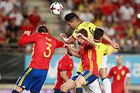 Spain's Gerard Pique (l) and Colombia's Radamel Falcao during international friendly match. June 7,2017.(ALTERPHOTOS/Acero) (NortePhoto.com) (NortePhoto.com)