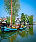 Niederlande, Nordholland, Edam: Kanal | Netherlands, North Holland, Edam: Canal Scene
