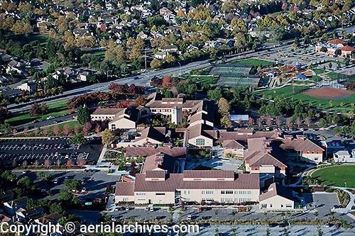 aerial photograph Santa Rosa Community College, Petaluma Campus, California