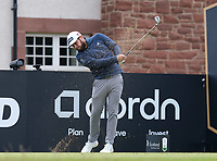7th July 2021; North Berwick, East Lothian, Scotland; Tyrrell Hatton England on the 6th tee during the Celebrity Pro-Am at the abrdn Scottish Open at The Renaissance Club, North Berwick, Scotland.