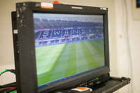 TV screen <br /> Re: Behind the Scenes Photographs at the Liberty Stadium ahead of and during the Premier League match between Swansea City and Bournemouth at the Liberty Stadium, Swansea, Wales, UK. Saturday 25 November 2017