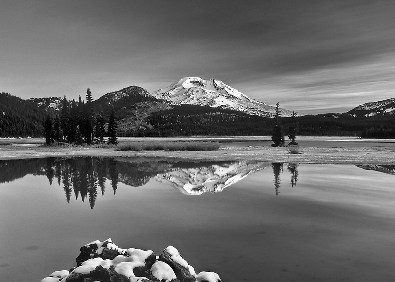 M00391M.tiff   South Sister and Sparks Lake with snow. Oregon