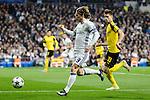Real Madrid's Luka Modric and Borussia Dortmund Julian Weigl during the UEFA Champions League match between Real Madrid and Borussia Dortmund at Santiago Bernabeu Stadium in Madrid, Spain. December 07, 2016. (ALTERPHOTOS/BorjaB.Hojas)