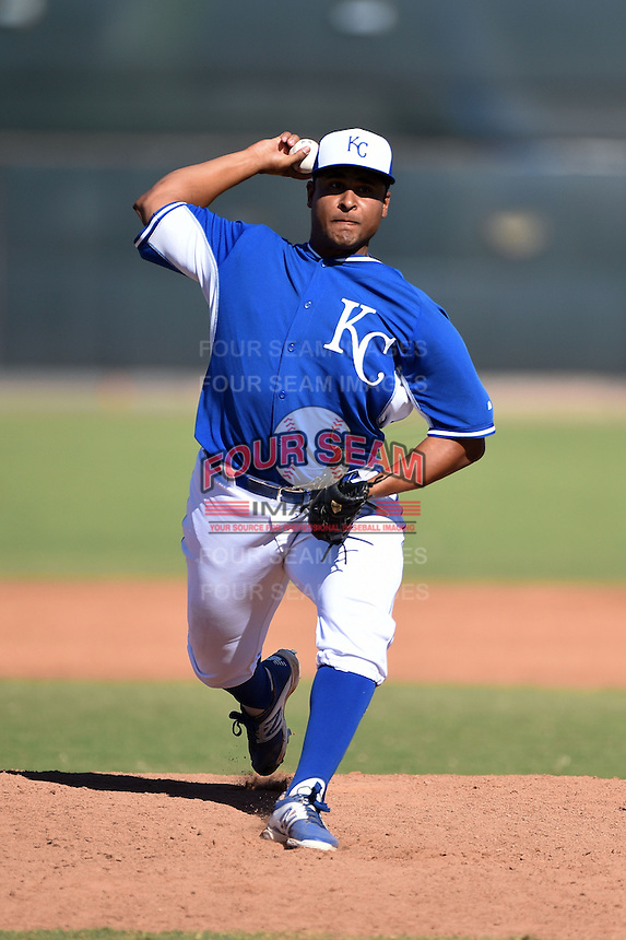 Kansas City Royals pitcher Alberto Rodriguez (51) during an Instructional League game against the Cincinnati Reds on October 14, 2014 at Goodyear Training Facility in Goodyear, Arizona.  (Mike Janes/Four Seam Images)