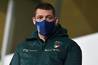 Andrea Belotti of Italy, wearing a mask, attends from the tribune the friendly football match between Italy and Estonia at Artemio Franchi Stadium in Firenze (Italy), November, 11th 2020. Photo Andrea Staccioli/ Insidefoto