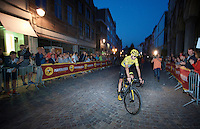 after winning Chris Froome (GBR/SKY) heads back to the podium for the ceremonies<br /> <br /> Post-Tour Criterium Mechelen 2015