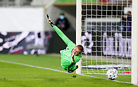 ST. GALLEN, SWITZERLAND - MAY 30: Ethan Horvath #1 of the United States dives for a ball during a game between Switzerland and USMNT at Kybunpark on May 30, 2021 in St. Gallen, Switzerland.