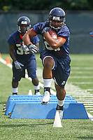 Virginia wide receiver Dominique Wallace  during open spring practice for the Virginia Cavaliers football team August 7, 2009 at the University of Virginia in Charlottesville, VA. Photo/Andrew Shurtleff