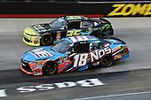 #18: Kyle Busch, Joe Gibbs Racing, Toyota Camry NOS Energy Drink, #76: Spencer Boyd, SS Green Light Racing, Chevrolet Camaro Grunt Style