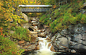The Sentinel Pine Covered Bridge at the Flume Gorge attraction in New Hampshires Franconia Notch State Park.