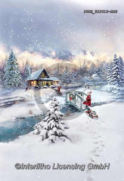 Isabella, CHRISTMAS LANDSCAPES, WEIHNACHTEN WINTERLANDSCHAFTEN, NAVIDAD PAISAJES DE INVIERNO, paintings+++++,ITKE512619-BNG,#xl#