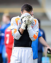 Stranraer's David Mitchell at the end of the game .......