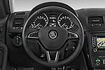 Car pictures of steering wheel view of a 2014 Skoda YETI LAURIN & KLEMENT OUTDOOR 5 Door SUV 4WD Steering Wheel