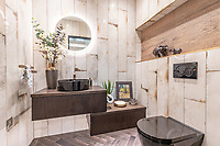 BNPS.co.uk (01202) 558833. <br /> Pic: LuxuryAndPrestige/BNPS<br /> <br /> Pictured: Bathroom. <br /> <br /> A heavenly converted chapel that has been transformed into a contemporary home is on the market for £1.5m.<br /> <br /> The Old Chapel was used by an order of nuns for 139 years before the humble church got a stylish upgrade into a four-bedroom property.<br /> <br /> The Grade II listed building has been carefully restored to retain stunning ecclesiastical features like windows, archways and doors, but with a modern twist.<br /> <br /> And although the owner bought it from the developer before it was finished, the stunning home has never been lived in.
