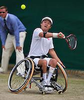 July 5, 2014, United Kingdom, London, Tennis, Wimbledon, AELTC, Wheelchairtennis, Shingo Kunieda (JPN)<br /> Photo: Tennisimages/Henk Koster