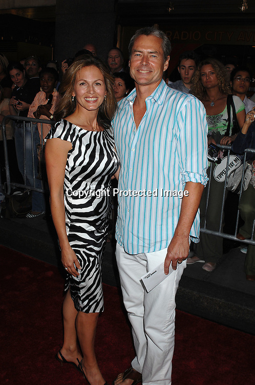"""Noelle Beck and husband Eric Petterson..arriving at The """"Live Free or Die Hard """" movie premiere on June 22, 2007 at Radio City Music Hall in New York. ..Robin Platzer, Twin Images....212-935-0770"""