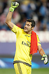 SL Benfica's Julio Cesar celebrates the victory in Champions League 2015/2016 match. September 30,2015. (ALTERPHOTOS/Acero)